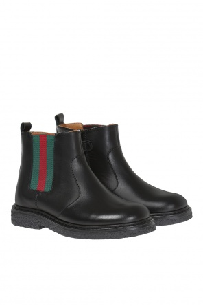 Leather ankle boots od Gucci Kids